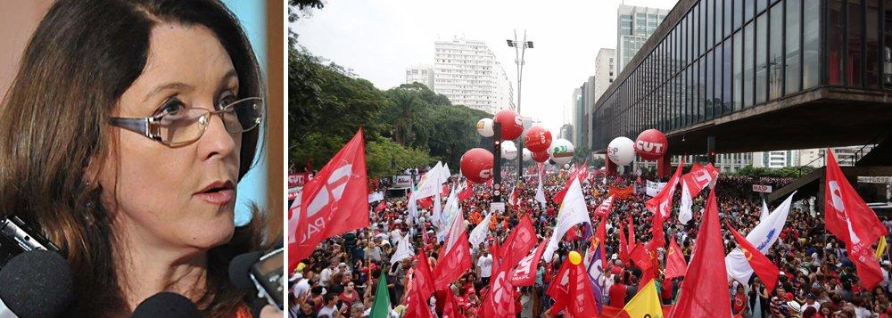 """""""Foi maior, muito maior do que imaginavam o governo e a própria oposição o movimento que paralisou transportes e escolas Brasil afora e culminou em manifestações nas principais capitais, destacando-se a reocupação da Paulista pelas forças vermelhas em São Paulo"""", afirma a jornalista Helena Chagas, dos Divergentes; ele diz que há aindao temor (pelo governo) do chamado """"efeito cascata, desencadeando outros protestos"""", e de que os atos influenciem os parlamentares, que vão votar as reformas, uma vez que """"costumam ser extremamente sensíveis às ruas, sobretudo em anos pré-eleitorais"""""""