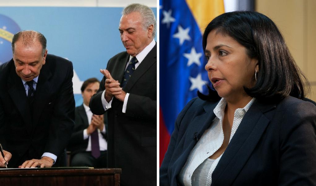 """A ministra das Relações Exteriores da Venezuela, Delcy Rodríguez, afirmou nesta terça-feira (7) que o novo chanceler do Brasil, Aloysio Nunes, começou """"com o pé esquerdo"""" suas funções como diplomata, depois que ele atacou o país, ao denunciar que lá existe uma """"escalada autoritária"""", e expressar sua """"preocupação"""" com isso"""