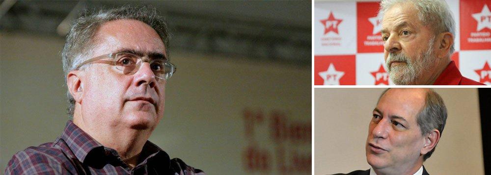 """""""Se Lula se candidata, Ciro terá posição central no novo governo. Se, pelo contrário, a frente do golpe conseguir inabilitar a candidatura de Lula, a vaga é de Ciro. Há ainda a hipótese, nada remota, de Lula poder ser candidato, mas abdicar em favor de Ciro. E a hipótese concreta de que, lançando antecipadamente Ciro, ele se torne rapidamente alvo de todas as pós-verdades da mídia"""", diz o jornalista Luis Nassif, que prega a união entre os dois presidenciáveis"""