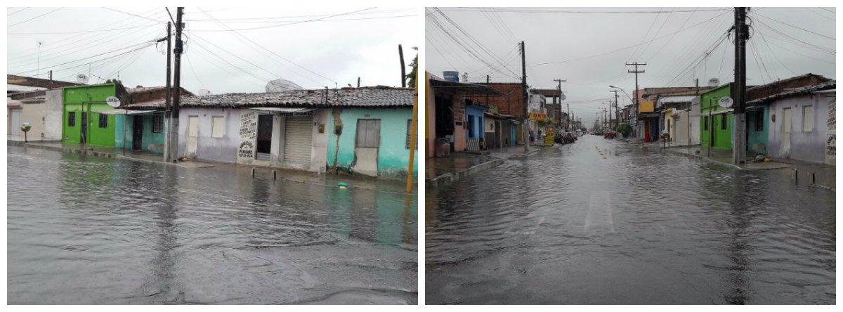 As fortes chuvas que caem em Alagoas deixaram ao menos 40 pessoas desalojadas no município de Marechal Deodoro, município da grande Maceió; ao todo, 111 famílias foram afetadas pelo temporal; muitas foram encaminhadas para abrigos; vários rios já apresentam níveis elevados