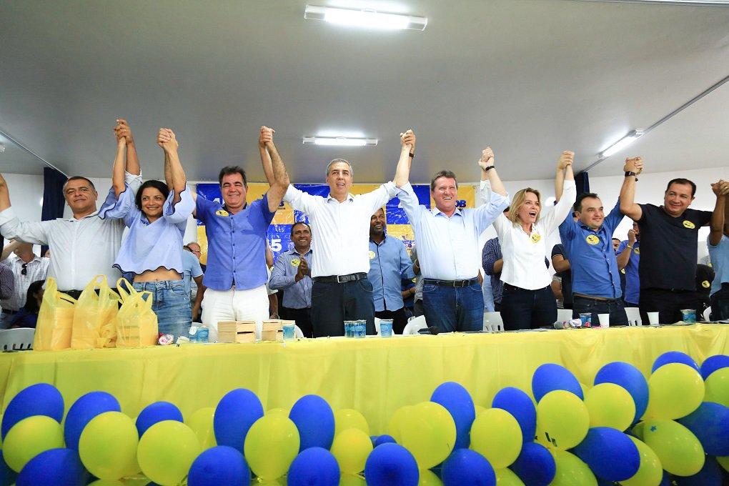 """Vice-governador participou do 14º Encontro Regional do PSDB, em Cidade Ocidental, onde o prefeito Fábio Correa e outras 200 lideranças locais, entre elas quatro vereadores, filiaram-se o partido; Zé Eliton afirmou que """"enquanto adversários olham apenas para o passado estamos construindo um projeto com ênfase no desenvolvimento e na geração de novas oportunidades""""; oposição em Goiás está divida entre os que apoiam o projeto do senador Ronaldo Caiado e o grupo do deputado peemedebista Daniel Vilela"""