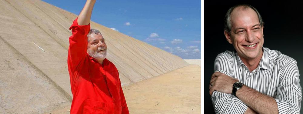 Potenciais aliados em 2018, o ex-presidente Luiz Inácio Lula da Silva e o ex-ministro Ciro Gomes irão juntos à Paraíba, para uma inauguração informal da transposição do São Francisco; enquanto Lula concebeu a obra, Ciro foi ministro da Integração Nacional de seu governo e começou a executá-la; na solenidade, também estará presente o governador Ricardo Coutinho, que reconheceu méritos de Lula e Dilma na solenidade em que Michel Temer tentou ocultar a paternidade da transposição; visita pode ser o lançamento informal de Lula 2018