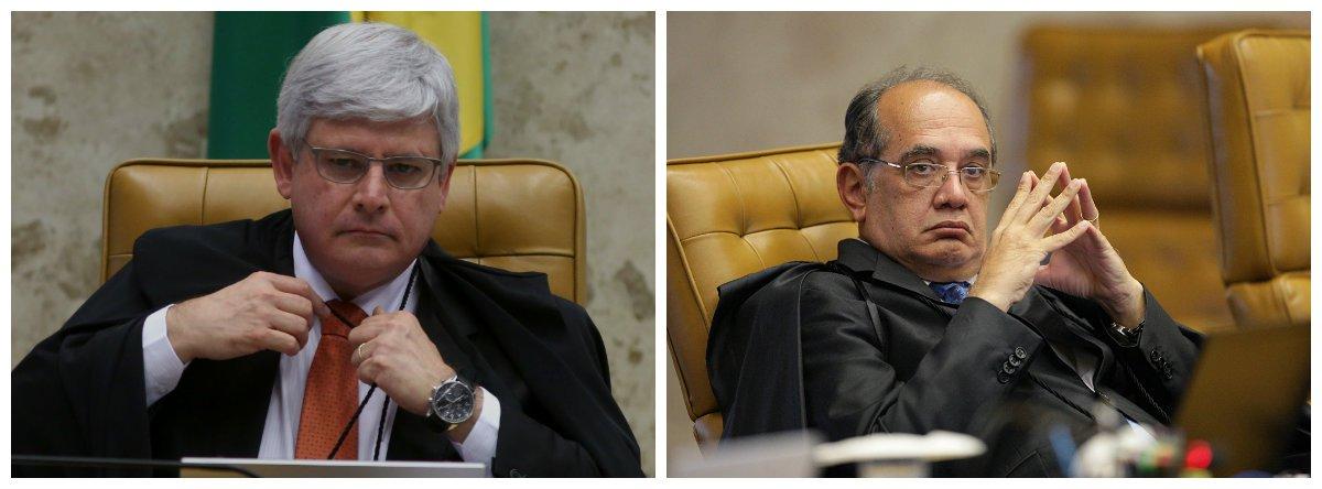 Procurador-geral da República, Rodrigo Janot, e ministro do Supremo Tribunal Federal (STF) Gilmar Mendes .2