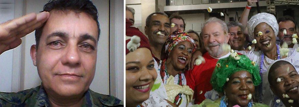 """O policial civil Adjalbas Pereira, que foi detido com uma arma na manifestação contra o ex-presidente Luiz Inácio Lula da Silva em Salvador, disse que estava """"só passando"""" pelo local do protesto quando ia a um supermercado; Adjalbas é filiado ao PSC da Bahia e foi candidato a deputado estadual em 2010, quando teve 686 votos e não foi eleito. Segundo ele, ao princípio de confusão, sacou uma arma e apontou para cima para evitar que manifestantes pró-intervenção militar, que eram minoria, fossem agredidos"""