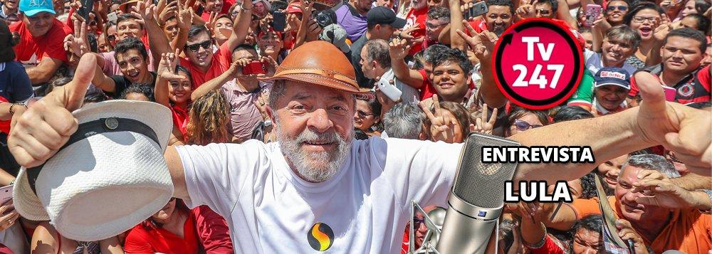 O ex-presidente Luiz Inácio Lula da Silva concederá uma entrevista à TV 247 nesta manhã, em que fará um balanço de sua caravana pelo Nordeste, que se encerra em São Luís, a capital maranhense