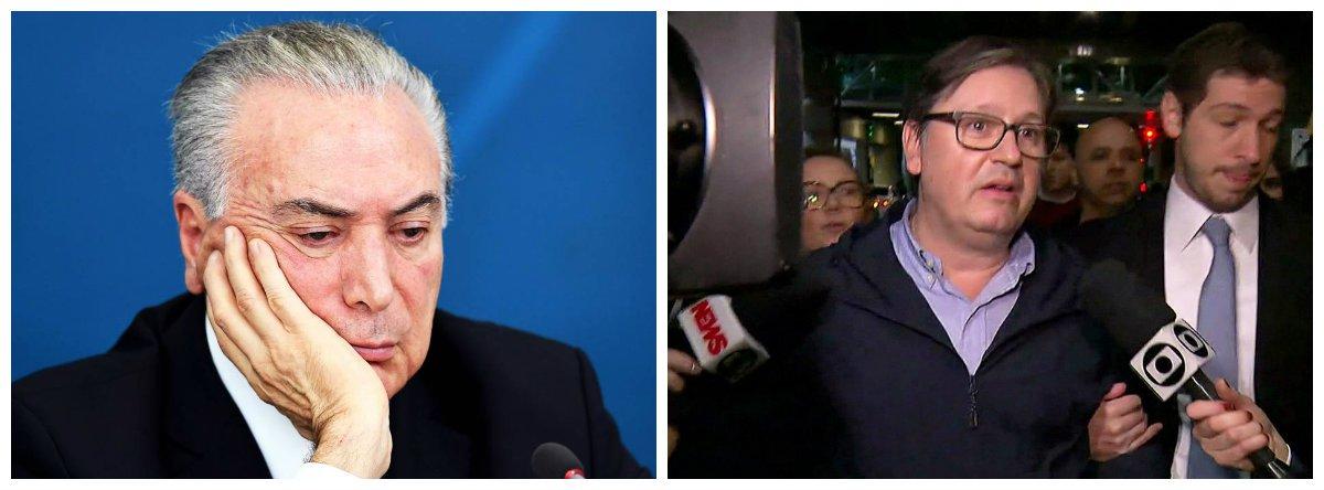 Michel Temer e deputado Rodrigo da Rocha Loures (PMDB-PR), pego com mala com propina de R$ 500 mil paga pela JBS .2