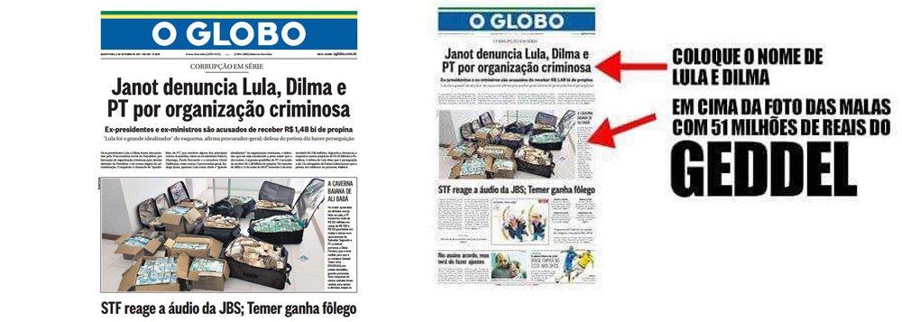 """Várias autoridades, jornalistas e internautas em geral têm se pronunciado nas redes com relação à capa do Jornal O Globo desta terça-feira (6); assunto entrou nos trendtopics do twiter com o título """"O Globo"""""""