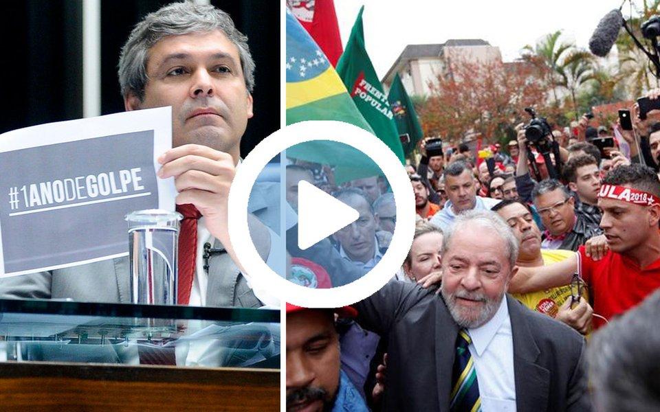 """Em discurso nesta sexta-feira, 12, o senador Lindbergh Farias (PT-RJ) defendeu realização de eleições diretas para outubro de 2017 e a candidatura do ex-presidente Lula para presidente; segundo Lindbergh, um ano depois, o golpe que retirou Dilma Rousseff fracassou; """"Deu errado. Onde estão Aécio, Serra, Alckmin? Caíram de 30% e tanto para 8%, 6% nas pesquisas. Deram um golpe e agora fazem pesquisas. A cada resultado, o Lula não para de subir, e eles ficam desesperados, principalmente a Rede Globo, que é o grande partido que se posiciona contra esse campo popular"""", afirmou o senador; assista"""