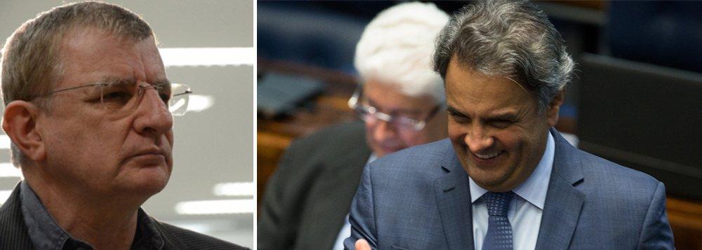 """""""Vítima de um golpe, o PT virou protetor de um de seus maiores algozes: o senador Aécio Neves. Não é o STF que adotou uma 'medida esdrúxula', mas é a direção do PT que está sendo esdrúxula pelo festival de erros que vem cometendo. Uma direção que adota posições não só contra a vontade da maioria da sua militância, da sua base social e do seu eleitorado, mas também contra o entendimento correto da Constituição"""", analisa o cientista político Aldo Fornazieri"""