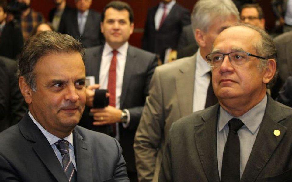 Grampeado no âmbito da Operação Patmos, o senador Aécio Neves (PSDB-MG) teve uma comunicação intensa entre março e maio com o ministro do STF Gilmar Mendes, que é relator em quatro inquéritos envolvendo o tucano; em um dos dias, Aécio tentou ligar cinco vezes para Gilmar; em outro, ele falou com o ministro no mesmo dia em que foi alvo de uma decisão que o beneficiou, livrando-o de prestar um depoimento à PF; confira o relatório