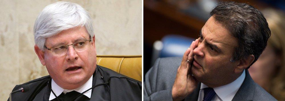 """No mesmo dia em que ofereceu denúncia ao Supremo Tribunal Federal contra o senador afastado Aécio Neves (PSDB-MG) pelos crimes de obstrução da Justiça e corrupção passiva, o procurador-geral da República solicitou a abertura de um novo inquérito contra o tucano, desta vez por crime de lavagem de dinheiro; Aécio, que jogou o Brasil na lama ao apoiar o golpe que tirou Dilma Rousseff e colocou Michel Temer no poder, é acusado pelo """"pagamento de propina da ordem de mais de R$ 60 milhões feito em 2014 ao parlamentar por meio da emissão de notas fiscais frias a diversas empresas indicadas por ele"""", além de outras irregularidades"""