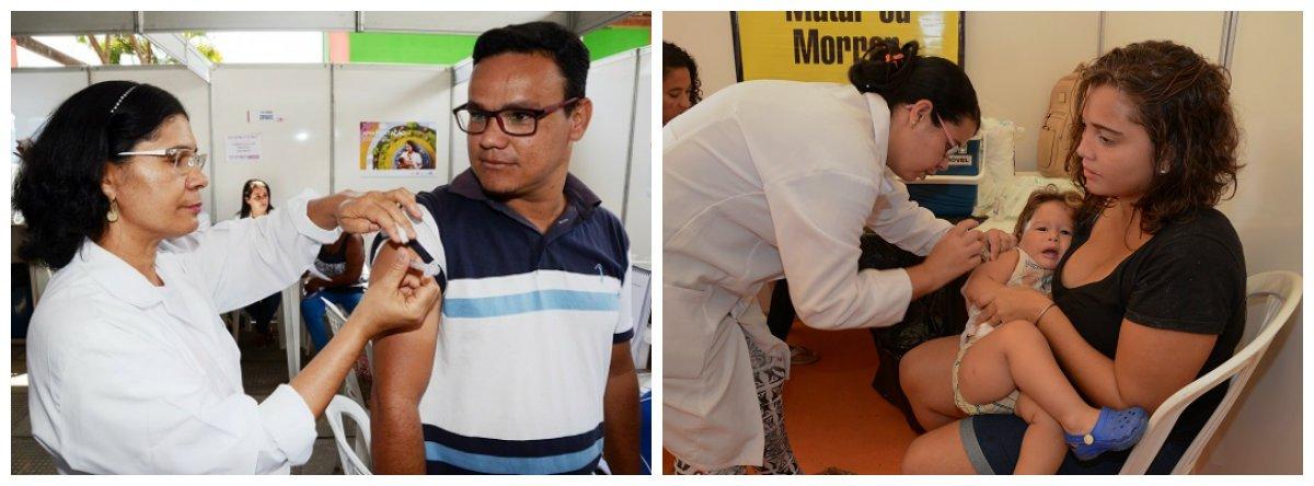 A Secretaria de Estado da Saúde (Sesau) dá início, nesta segunda-feira (17), à campanha de vacinação contra a Influenza; Alagoas recebeu 735.987 doses e devem ser vacinadas 662.388 pessoas, o que equivale a 90% do público-alvo; Programa Nacional de Imunização (PNI) prevê vacinar profissionais da área de saúde, crianças maiores de 6 meses e menores de 5 anos, gestantes e puérperas (mulheres até 45 dias após o parto)