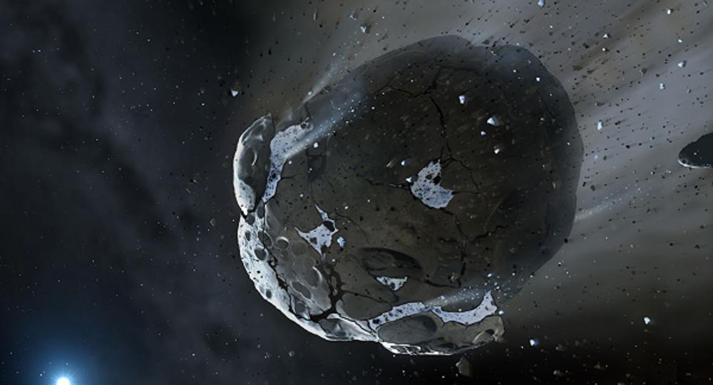 """Astrofísicos da Grã-Bretanha descobriram através do telescópio Very Large Telescope os restos de um planeta morto na órbita de Marte, comunica o portal oficial do Observatório de Armagh; cientistas estudaram a composição dos asteroides troianos. Estes objetos """"foram apanhadas"""" pela força da gravidade do Planeta Vermelho e estão localizados na frente e atrás de Marte, nos pontos Lagrange L4 e L5; nestes pontos, a gravitação entre o planeta e o Sol é equilibrada; a órbita de Marte parece ter 9 asteroides deste tipo"""
