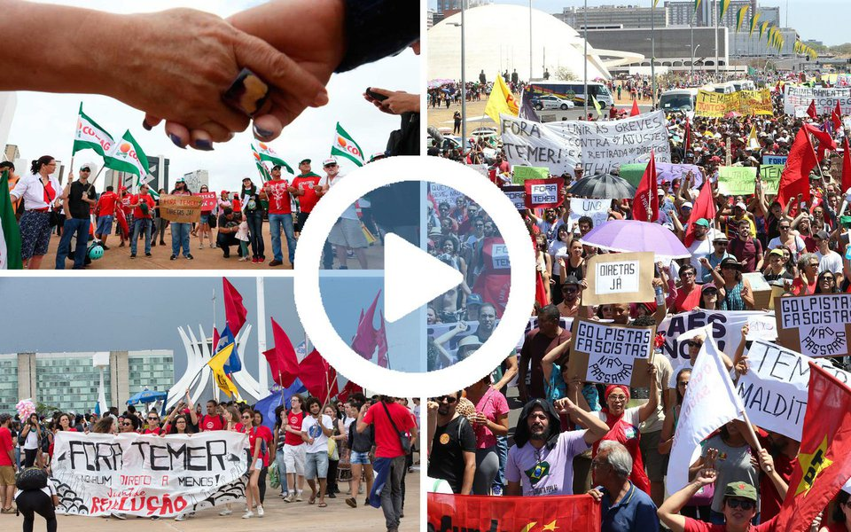 """São esperadas 100 mil pessoas nesta quarta-feira (24), no Distrito Federal, no #OcupaBrasília cuja palavra de ordem é""""Eu Quero Votar Para Presidente da República"""", informa o jornalista Esmael Morais"""