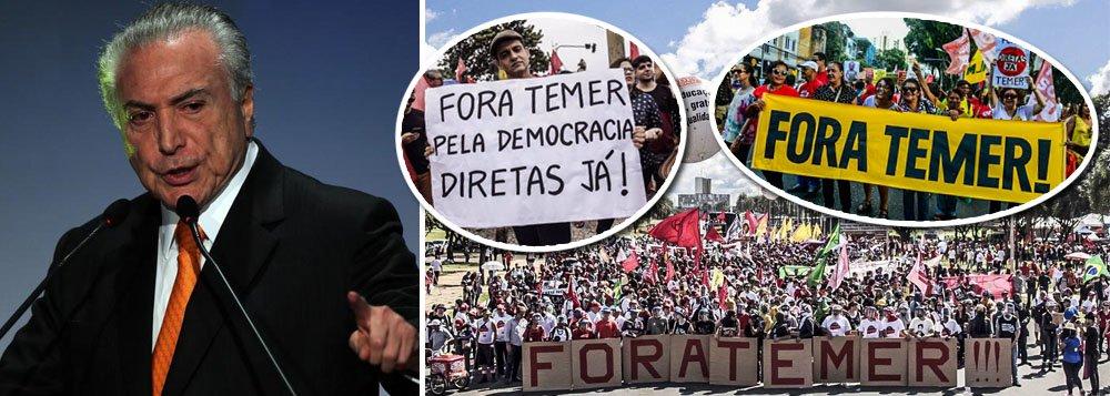 """Rejeitado por mais de 95% da população brasileira e anistiado pela Câmara dos crimes de corrupção passiva, organização criminosa e obstrução de Justiça, Michel Temer é considerado o governante com a maior taxa de rejeição do mundo, com apenas 3% de aprovação;pesquisa do grupo de análise política Eurasia põe Temer à frente do presidente venezuelano Nicolás Maduro e do sulafricano Jacob Zuma; ista dos líderes """"mais impopulares"""" conta ainda com o mexicano Enrique Penã Nieto, com 28% de aprovação; a premier britânica, Theresa May, que possui 31% e conduz o polêmico processo de saída do Reino Unido da União Europeia (UE); o norte-americano Donald Trump, com 37%; e o francês Emmanuel Macron, com 45%"""