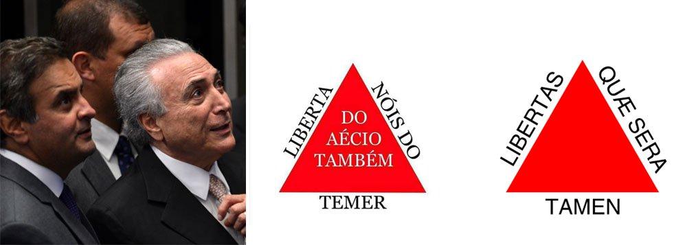 """Os mineiros não querem mais a """"liberdade, ainda que tardia""""; eles gritam agora para se livrar de Aécio Neves e Michel Temer, a dupla que rebaixou o Brasil a um país corrupto, sem instituições e escravocrata"""