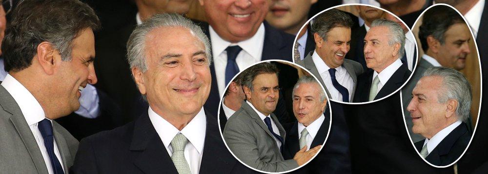 """""""Temer é Aécio e Aécio é Temer. Irmãos siameses na aventura golpista, nos métodos de ação e no caráter. Mas já se afogaram abraçados. As 'vitórias de Pirro' que ainda alcançam devem-se exclusivamente à falência das nossas instituições republicanas"""", critica o deputado Wadih Damous (PT-RJ) sobre a aliança entre os artífices do golpe parlamentar que arruinou o Brasil e sua economia; """"O que dizer de um Supremo Tribunal Federal que se cala diante de um fato público e notório aterrador como a compra de deputados para que votassem a favor do impeachment da presidenta Dilma sem crime de responsabilidade? E da caçada judicial sórdida que sofre Lula?"""", questiona Damous"""