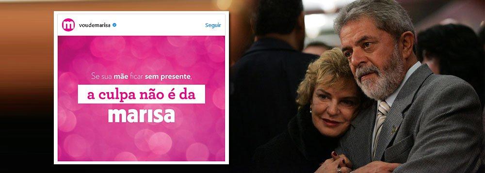"""""""Se sua mãe ficar sem presente, a culpa não é da Marisa"""", diz o post desta sexta-feira das Lojas Marisa; a """"piada"""" seria uma referência ao depoimento do ex-presidente Lula ao juiz Sergio Moro, como se ele tivesse culpado a ex-primeira-dama pelo suposto caso do triplex; ocorre que Lula manteve a mesma versão que sempre sustentou: a de que Marisa tinha uma cota, mas não exerceu o direito de adquirir a propriedade; ou seja: as Lojas Marisa apenas compraram a versão canalha de determinados meios de comunicação que, sem provas materiais contra Lula, passaram a atacar suas supostas falhas morais"""
