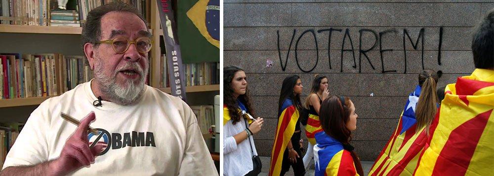 """""""O abismo que passa a separar a Catalunha da Espanha, hoje muito mais do que antes. E, seguramente, muitos amigos meus considerados conservadores que poderiam ser chamados de direita, que conhecem, que vivem a situação na Espanha reconhecem o seguinte. O desastre na Espanha poderia ter sido muito menor, se nāo fosse a prepotência do Partido Popular e do seu Mariano Rajoy"""", diz o escritor e jornalista Fernando Morais"""