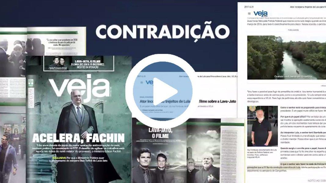 Viraliza nas redes sociais um vídeo que mostra a ilegalidade na filmagem do ex-presidente Lula pela Polícia Federal, durante a condução coercitiva a que foi submetido em março do ano passado; Trecho mostra como o juiz Sérgio Moro determinou que em hipótese alguma Lula deveria ser filmado no procedimento da PF; Assista acima
