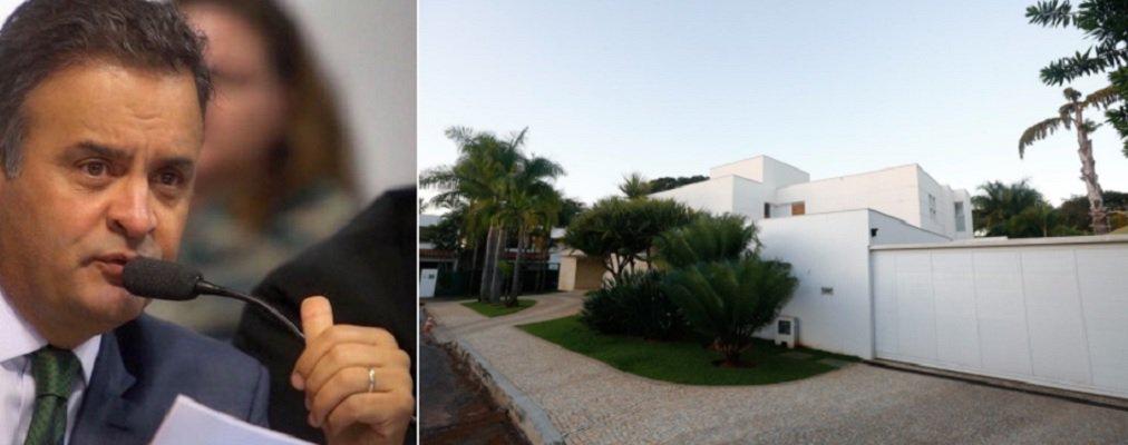 """Denunciado por diversos crimes e afastado do Congresso, o senador afastado Aécio Neves (PSDB/MG) está recluso numa luxosa casa no Lago Sul, em Brasília; a mansão onde mora com a família desde 2015 tem sido um espaço de conversas e reuniões com assessores, advogados e amigos; apropriedade é localizada em uma das áreas mais nobres de Brasília e está orçada em R$ 7 milhões; site Metrópoles afirma que o aluguel desembolsado pelo tucano, há dois anos, é de R$ 25 mil mensais, """"valor que praticamente abocanha toda a remuneração de senador, de R$ 33.763. Apesar do alto valor da locação, ela já vem com desconto. Nada menos do que R$ 10 mil. Aécio conseguiu o preço """"camarada"""" com o dono do imóvel"""""""