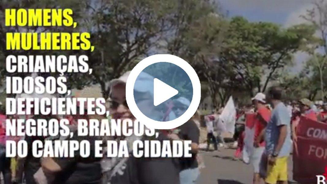 """Vídeo publicado pelo mandato da deputada Benedita da Silva (PT-RJ) mostra que, apesar de ter sido abafado pela grande mídia e de um grupo de infiltrados ter tentado """"estragar"""", o ato contra as reformas do governo Temer, que reuniu cerca de 150 mil pessoas em Brasília na semana passada, foi um sucesso; """"Quando o povo quer, nada consegue evitar o desejo da mudança"""", aponta o texto"""