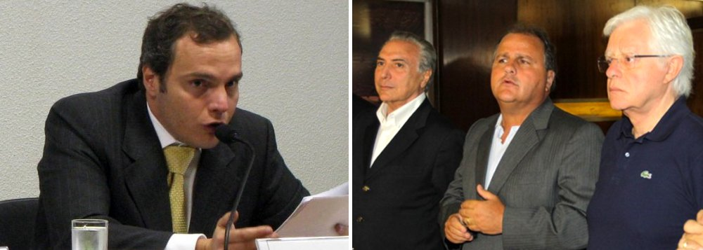 """Em depoimento à Polícia Federal, o corretor financeiro Lúcio Funaro afirmou que recebeu orientação de Michel Temer para arrecadar propina em operações no FI-FGTS; Funaro disse que pagou uma """"comissão"""" ao ministro Moreira Franco, um dos principais aliados de Temer; doleiro revelou também que pagou, em espécie, R$ 20 milhões para o ex-ministro Geddel Vieira Lima, em """"comissões"""" por liberações de crédito a empresas do grupo J&F; Geddel era então vice-presidente de pessoa jurídica da Caixa Econômica e o grupo J&F, segundo Funaro, """"tinha interesse em obter linhas de créditos junto a esta instituição"""";"""