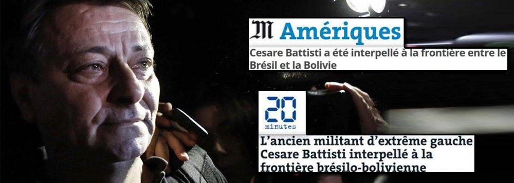 Além da forte repercussão na Itália, a prisão do italiano Cesare Battisti na quarta-feira (4) na fronteira do Brasil com a Bolívia também é destaque na imprensa francesa nesta quinta-feira (5); jornal Le Monde diz que a presidência de Michel Temer marca uma reviravolta na vida do ativista italiano;advogados de Battisti pedem sua libertação imediata, alegando que a revisão da decisão tomada pelo ex-presidente Lula, em 2010, que concedeu residência permanente ao ativista no Brasil, é juridicamente inaceitável devido à prescrição de prazo
