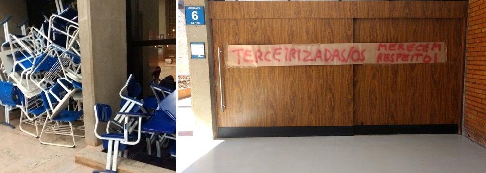 Estudantes da Universidade de Brasília (UnB) ocuparam um prédio da instituição rm protesto contra a demissão de terceirizados e cortes na educação; segudno manifestantes, faltou diálogo na discussão sobre o orçamento da universidade; a UnB acumula um déficit de R$ 100 milhões por causada queda dos repasses federais