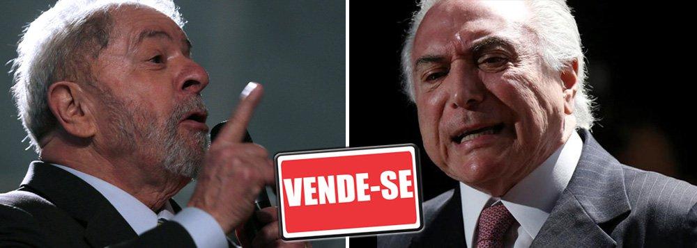 """""""Vão vender a Eletrobras e também a Chesf. Parece que o Palácio da Alvorada é uma imobiliária. Se não sabem governar, deixem quem foi eleito voltar para governar"""", disse o ex-presidente em Recife;""""Mas eles querem acabar com o Bolsa Família, com o BNDES, com o Banco do Brasil, acabaram com a indústria naval..."""", lamentou Lula;""""Essa gente tem a desfaçatez de propor um corte de R$ 10 no salário mínimo. De tirar famílias do Bolsa Família, fechar universidade pública, e de não gerar emprego para o povo brasileiro"""", afirmou ainda"""