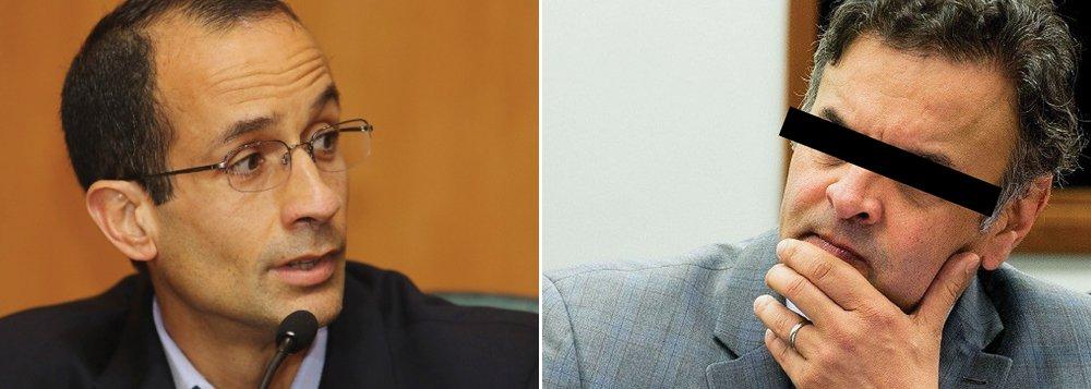 """Articulador do golpe de 2016, o senador Aécio Neves (PSDB-MG) foi alvo de mais uma delação: desta vez, de ninguém menos que Marcelo Odebrecht, que disse ter acertado um repasse de R$ 50 milhões para o presidente nacional do PSDB, em troca do apoio e da participação da Cemig e de Furnas no leilão de uma das usinas do Rio Madeira; político mais delatado na Lava Jato, Aécio é o alvo do maior número de inquéritos da chamada """"lista de Janot""""; em nota, ele afirmou que """"é absolutamente falsa a pretensa acusação""""; neste caso, a Odebrecht deve apresentar comprovantes de que pagou a propina a um operador de Aécio numa conta em Cingapura (foto de Marcelo Odebrecht por Giuliano Roman Gomes)"""