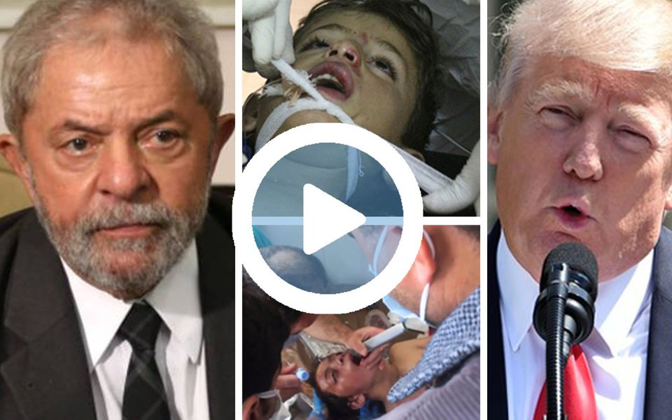 """Ex-presidente classificou como """"irresponsável"""" o bombardeio dos Estados Unidos contra a Síria, depois de um ataque químico que deixou mais de 70 mortos, sendo 20 crianças, cuja autoria ainda não foi investigada; """"É preciso averiguar se a Síria utilizou armas químicas mesmo. Porque você lembra que na guerra do Iraque, os Estados Unidos também invadiram para procurar armas químicas e até hoje não apareceram armas químicas"""", comparou Lula, em uma entrevista concedida nesta manhã a uma rádio do Ceará; """"Eu não sei a que pretexto eles bombardearam a Síria"""", completou; ao falar sobre Donald Trump, Lula declarou que """"o mundo não está precisando de governantes arrogantes""""; assista"""