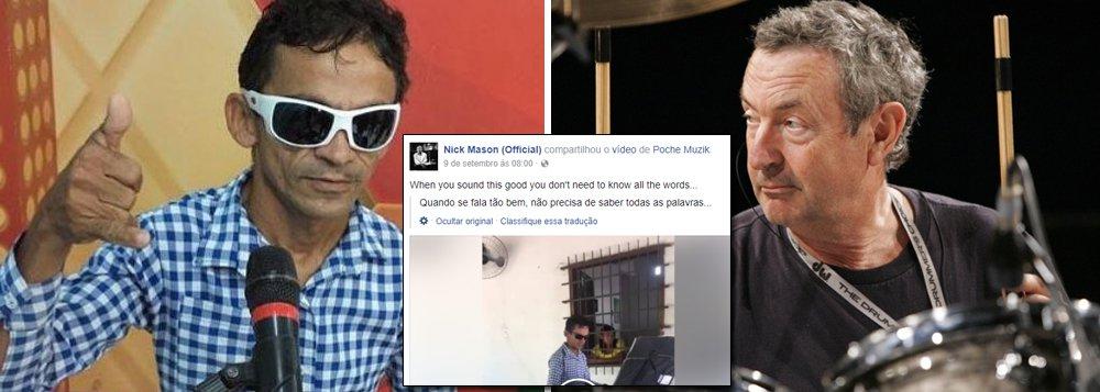 """O baterista do Pink Floyd, Nick Mason, compartilhou em sua página oficial do Facebook um vídeo do tecladista piauiense José da Cruz Silva, o Gleyfy Brauly, tocando o clássico do grupo inglês """"Another Brick in the Wall""""; """"Ele é tão bom que nem precisa saber a letra"""", escreveu Mason; obrasileiro, que faz o maior sucesso nas redes, retribuiu o carinho do baterista nesta terça-feira (12): """"A opinião que você respeita. Sábias palavras grande Nick Mason. Vida longa a todos que curtem a boa música"""""""