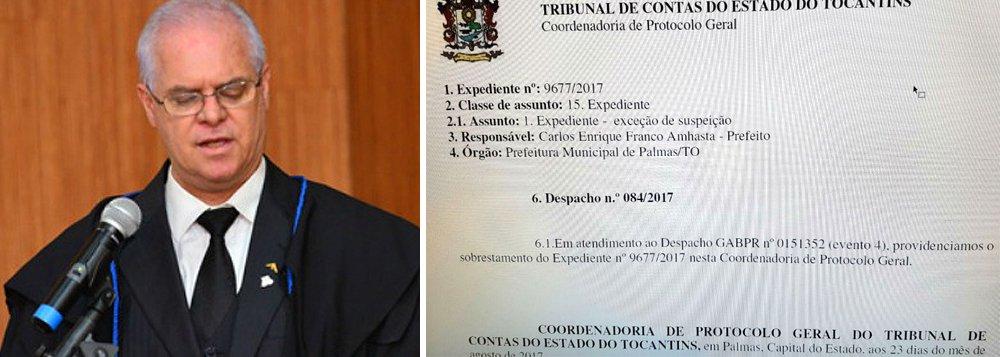 O prefeito Carlos Amastha (PSB) e a Prefeitura de Palmas estão pedindo ao Tribunal de Contas do Estado (TCE) a suspeição do conselheiro Alberto Sevilha, que tomou várias decisões que contrariaram a gestão municipal; é ele, por exemplo, o responsável pela suspensão total do Decreto 1.321 de 2016, que impediu a atualização em 25% a Planta de Valores da Capital; o IPTU foi recolhido este ano sem reajuste