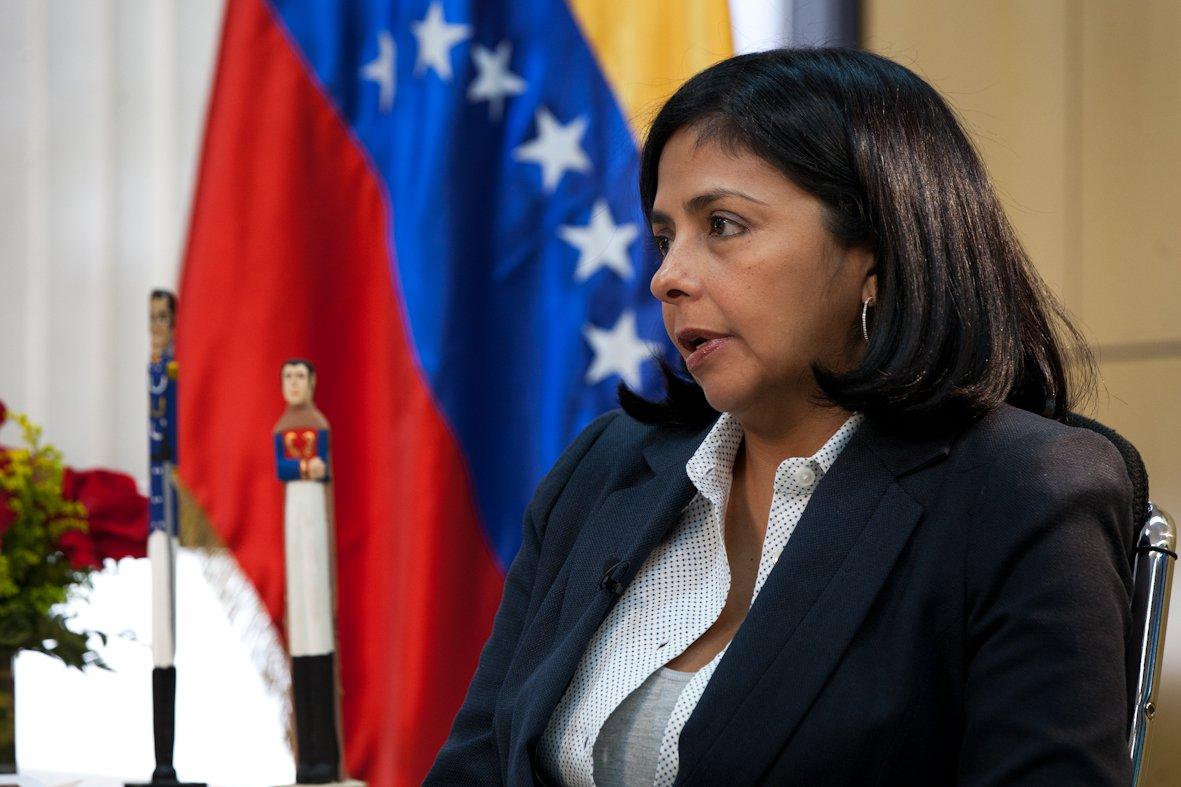 Chanceler venezuelana Delcy Rodríguez