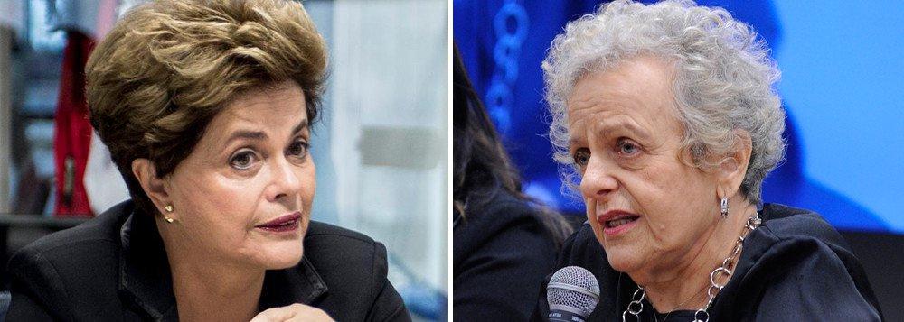 """Presidente deposta Dilma Rousseff defende que a condenação da ex-ministra Eleonora Menicucci no processo movido por Alexandre Frota seja revertido em segunda instância; """"É uma inversão total. O que declara ter estuprado fica impune e a defensora das mulheres contra a violência do estupro sofre condenação"""", diz Dilma em vídeo; assista"""