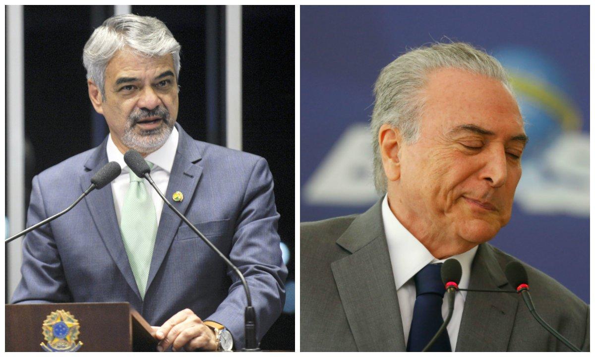 Senador Humberto Costa (PT-PE) e Michel Temer (PMDB)