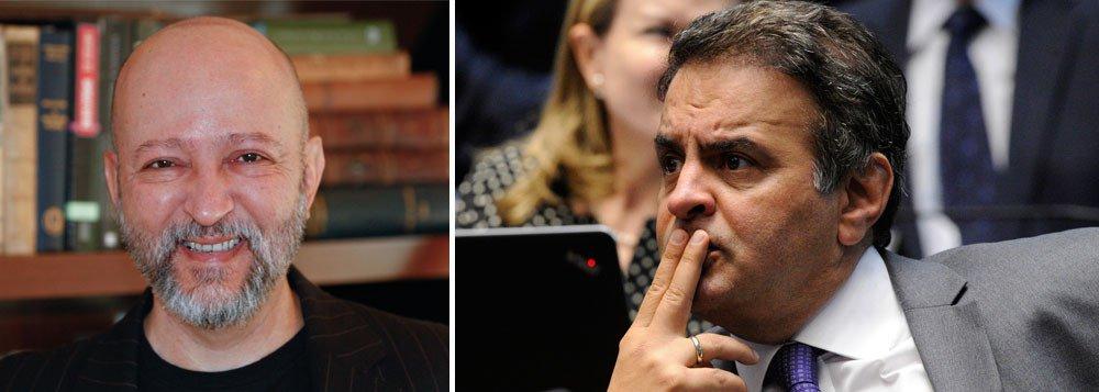 """""""Se o Brasil fosse um país lógico, a precariedade da situação penal de Aécio Neves levaria o Senado a manter as sanções cautelares impostas ao tucano pela Primeira Turma do Supremo Tribunal Federal. Mas foi justamente a debilidadedo seu prontuário que devolveu a Aécio o mandato e a liberdade noturna"""", escreve o jornalista; """"Num plenário repleto de encrencados, os senadores investigados, denunciados e réus tiraram Aécio da forca para se proteger da corda"""", diz Josias"""