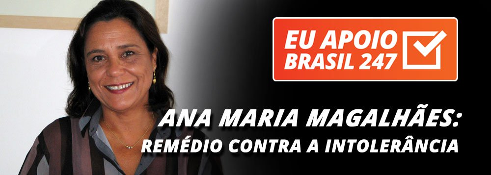 """A cineasta Ana Maria Magalhães, também apoia a campanha de assinaturas solidárias do 247. """"Nesses tempos de intolerância cultural, censura às artes, difamação a artistas, perseguição de nossos meios de produção, é necessário que a gente tenha acesso a outras análises e a novos pensamentos, que não saem na mídia tradicional"""", diz ela"""