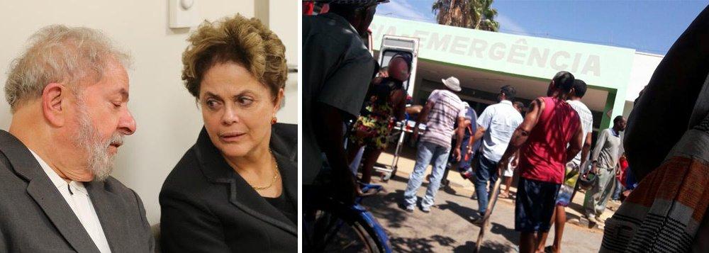 """O ex-presidente Luiz Inácio Lula da Silva divulgou nota nesta quinta-feira (05) se solidarizando com as vítimas do incêndio ocorrido numa creche em Janaúba (MG); """"Eu, sendo pai, avô e bisavô não consigo imaginar a dor dos familiares diante de uma perda tão cruel.Neste momento de luto intenso e sofrimento, me junto em solidariedade aos pais e familiares das vítimas e à população de Janaúba"""", escreveu Lula em seu site oficial"""