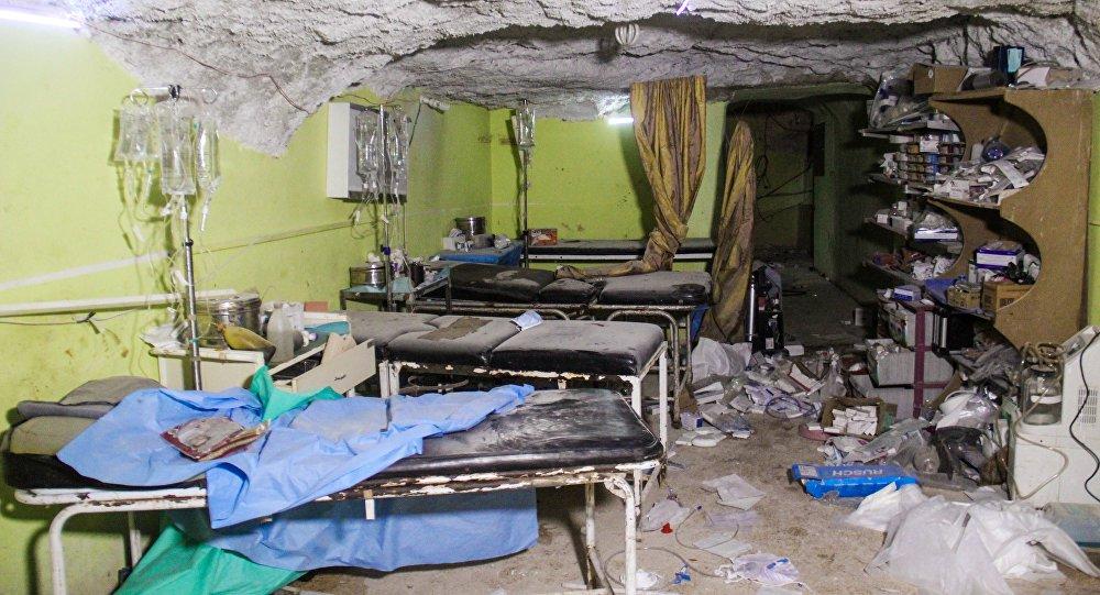 Instalações de um hospital foram destruídas após ataque químico na Síria