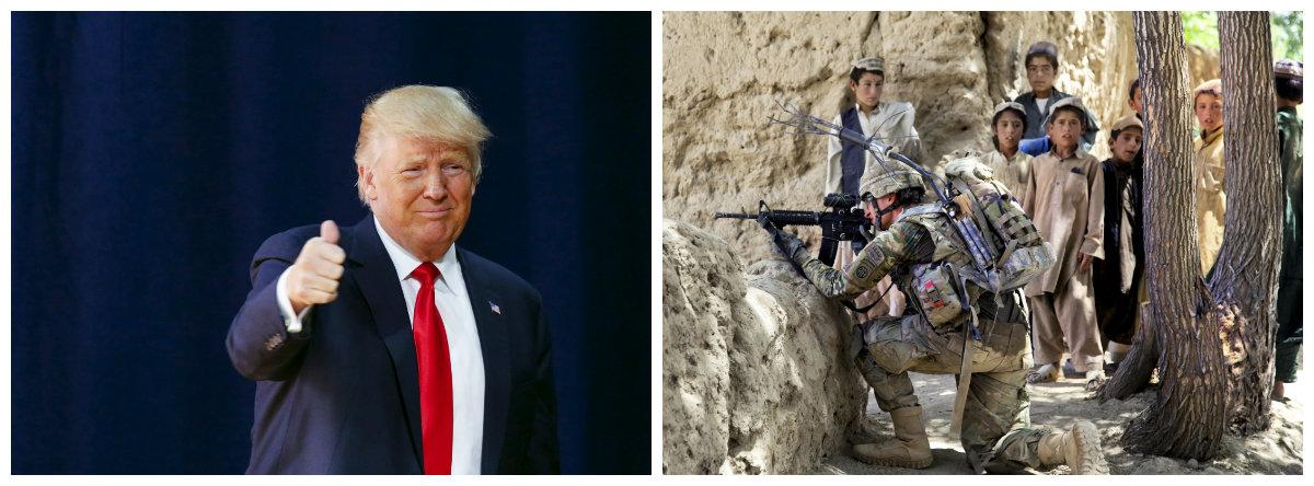 Presidente dos EUA, Donald Trump, quer mais tropas no Afeganistão; EUA, Trump, Afeganistão; soldados .2
