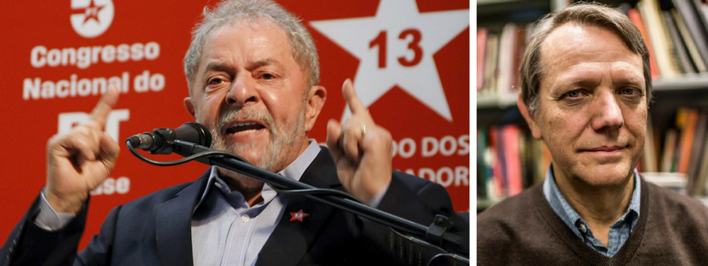 """Em sua coluna neste sábado, André Singer afirmou que a candidatura de Luiz Inácio Lula da Silva à Presidência em 2018 será boa para a democracia brasileira; """"No lusco-fusco em que nos encontramos —uma situação que oscila entre a plenitude democrática e surtos de exceção ocasionais, porém frequentes— o destino jurídico do líder petista será chave. Caso Lula possa candidatar-se, a recomposição do tecido democrático esgarçado pelo golpe parlamentar ganha densidade. Na hipótese contrária, a instabilidade tende a se prolongar, abrindo caminho para saídas autoritárias"""", escreve"""