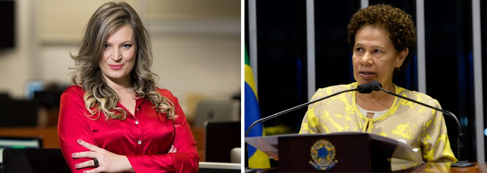 """8ª Turma Cível do Tribunal de Justiça do Distrito Federal suspendeu decisão liminar que obrigava o YouTube a excluir um vídeo no qual a blogueira Joice Hasselmann critica a senadora Regina Sousa (PT-PI). """"Anta"""", """"gentalha"""", """"semianalfabeta"""" e """"cretina"""" foram alguns dos adjetivos usados pela blogueira ao se referir à senadora, que discursava no julgamento do impeachment da ex-presidente Dilma Rousseff; """"A liberdade de expressão, para ser garantida, não precisa ficar confinada ao debate polido entre estranhos políticos"""", disse o desembargadorDiaulas Costa Ribeiro, na decisão confirmada pela Corte"""