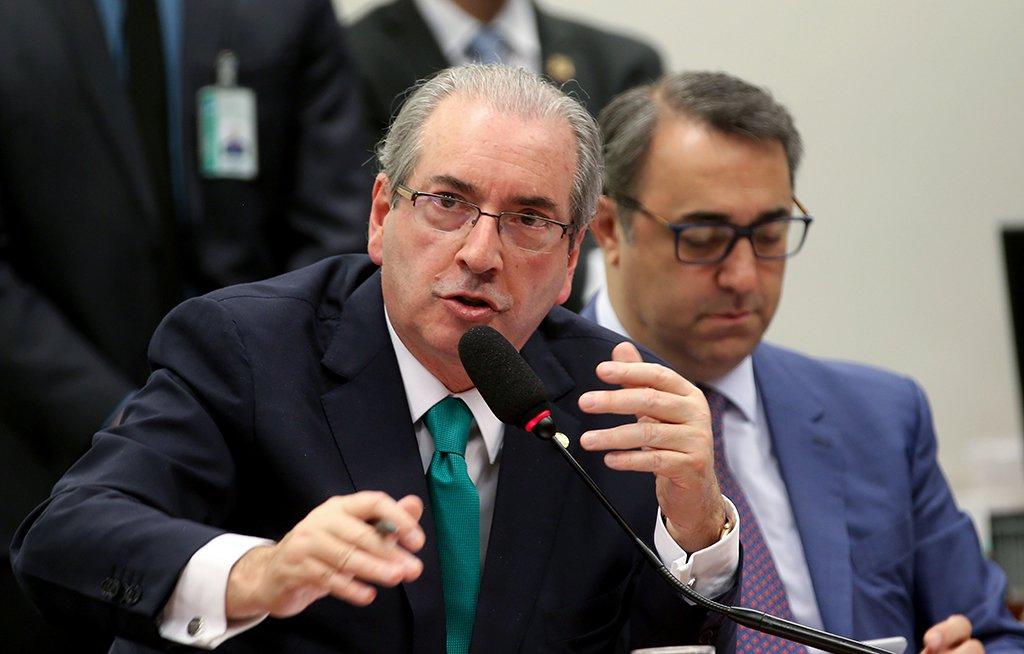 Brasília - Eduardo Cunha faz sua defesa no Conselho de Ética da Câmara (Wilson Dias/Agência Brasil)