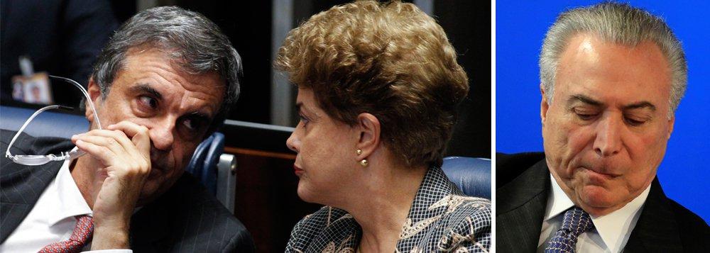 """O ex-ministro da JustiçaJosé Eduardo Cardozo, que é advogado da presidente deposta Dilma Rousseff, pretende usar elementos da segunda denúncia de Rodrigo Janot contra Michel Temer para tentar anular o golpe que derrubou a presidente legitimamente eleita; Cardozoviu uma oportunidade no trecho em que o então procurador-geral da República relaciona dois fatos: o apoio do """"quadrilhão do PMDB"""" à queda da petista e à tentativa do grupo de barrar a Operação Lava Jato;""""Não se pode tratar o impeachment como se fosse uma ilha dissociada de tudo"""", diz o ex-ministro; para ele, a conexão entre fatos apontada na denúncia do procurador é """"mais um indício da nulidade do processo contra Dilma"""""""