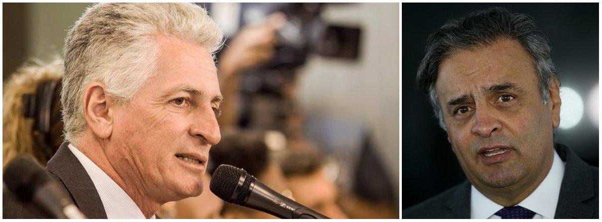 """Deputado estadual Rogério Correia (PT) rebate declaração do senador Aécio Neves (PSDB-MG) de que não é um """"servidor qualquer""""; """"De fato ele não é um servidor público qualquer, honesto e trabalhador. É um senador corrupto, golpista, que se uniu a Temer e Cunha para derrubar a democracia, que quebrou Minas quando foi governador e lançou o Brasil na crise de hoje"""", rebateu o parlamentar"""