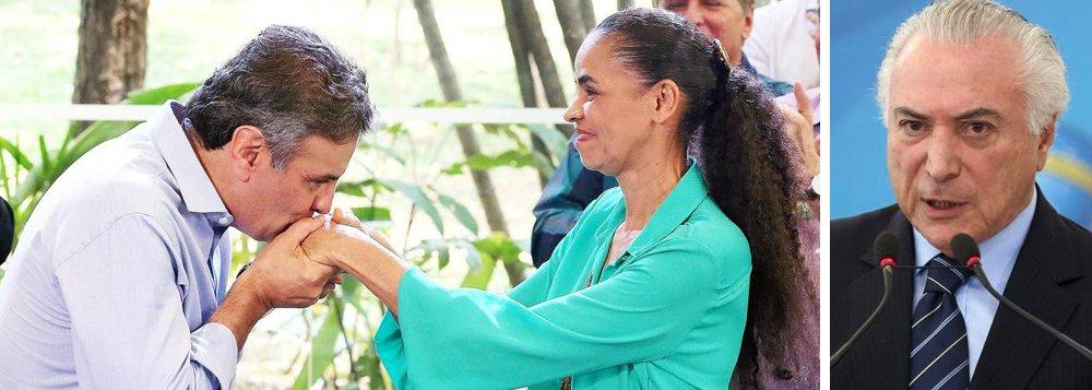 Com apenas 3% das intenções de voto, Marina Silva (Rede) é o grande fenômeno negativo da pesquisa DataPoder360; ex-senadora cometeu dois erros cruciais: o apoio ao senador Aécio Neves (PSDB-MG), fisgado num esquema de propinas, e ao golpe que levou ao poder Michel Temer, denunciado por corrupção; no Brasil de hoje, ela não seduz a esquerda, o centro ou a direita, que tem nomes mais identificados com o ódio e com o golpismo