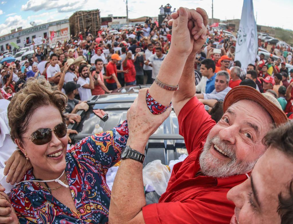 19/03/2017- Monteiro- PB, Brasil- Os ex-presidentes Lula e Dilma Rousseff viajam para Monteiro-PB ao lado do governador Ricardo Coutinho. Foto: Ricardo Stuckert / Instituto Lula