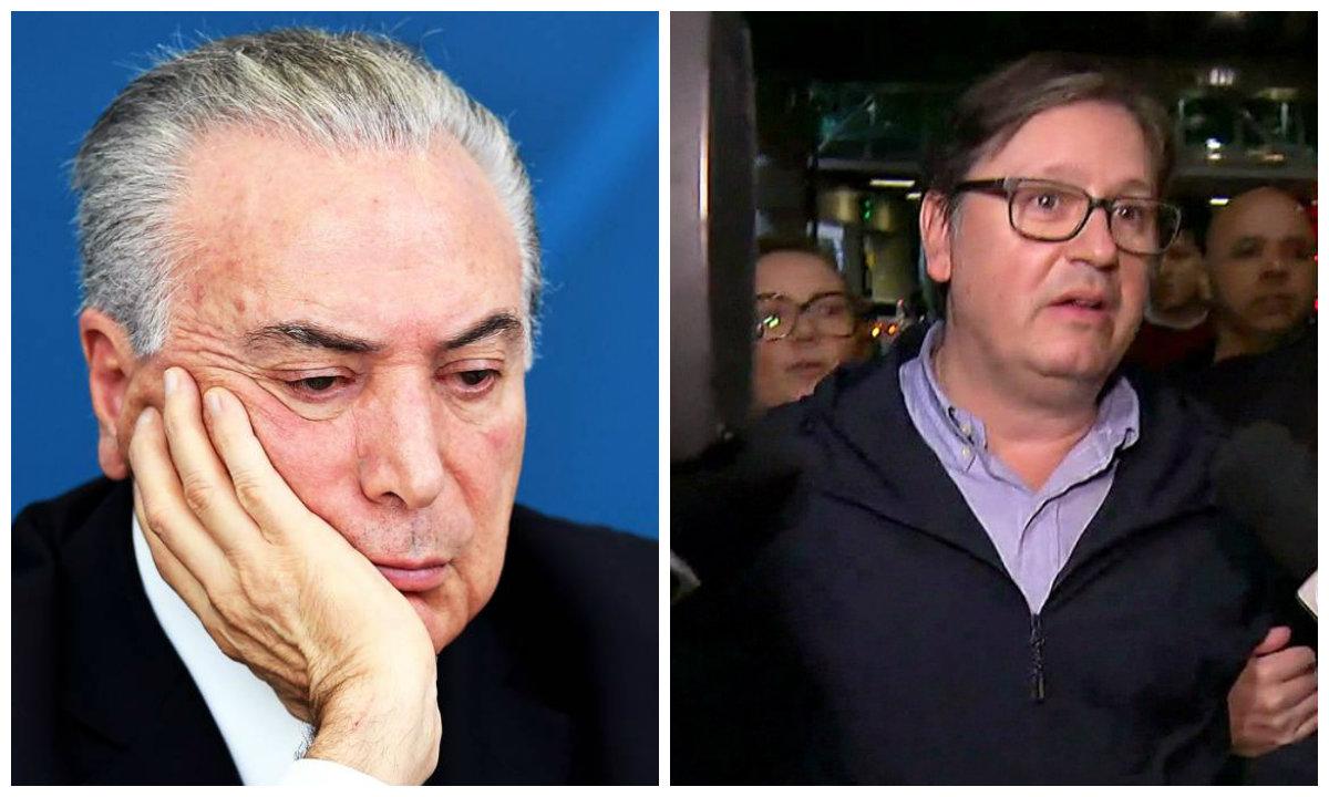Michel Temer e deputado Rodrigo da Rocha Loures (PMDB-PR), pego com mala com propina de R$ 500 mil paga pela JBS